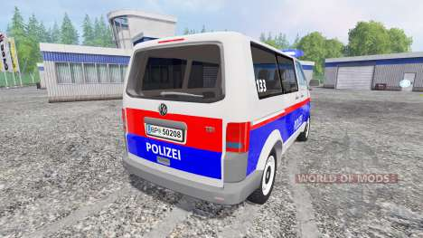 Volkswagen Transporter T5 Police v2.0 для Farming Simulator 2015