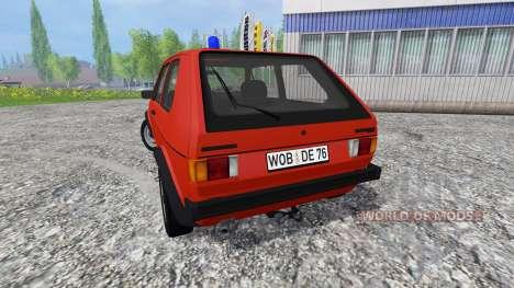 Volkswagen Golf I GTI [feuerwehr] для Farming Simulator 2015