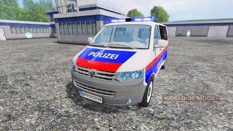 Volkswagen Transporter T5 Police для Farming Simulator 2015