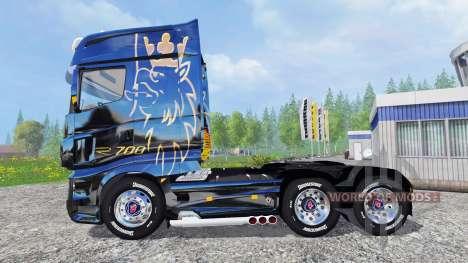 Scania R700 [blue black] для Farming Simulator 2015