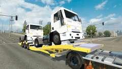Низкорамный трал с тягачами Ford Cargo для Euro Truck Simulator 2