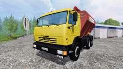 КамАЗ-54115 с загрузчиком сеялок и прицепом