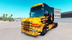 Скин Hot Ride на тягач Scania T для American Truck Simulator