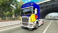 Скин Red Bull v2.0 на тягач Scania для Euro Truck Simulator 2
