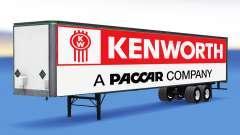 Цельнометаллический полуприцеп Kenworth для American Truck Simulator
