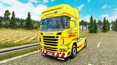 Скин DHL на тягач Scania для Euro Truck Simulator 2