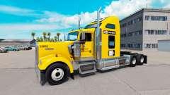 Скин JCB на тягач Kenworth W900 для American Truck Simulator