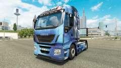 Скин Mass Effect на тягач Iveco Hi-Way для Euro Truck Simulator 2