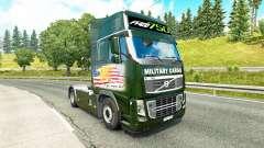 Скин Military Cargo на тягач Volvo для Euro Truck Simulator 2