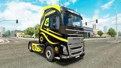 Скин Black & Yellow на тягач Volvo для Euro Truck Simulator 2