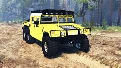 Hummer H1 6x6 Raptor v2.0 для Spin Tires
