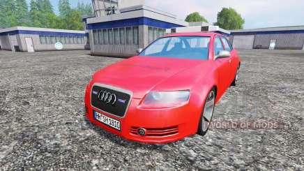 Audi A6 (C6) [feuerwehr] для Farming Simulator 2015