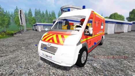 Peugeot Boxer [VSAV] для Farming Simulator 2015