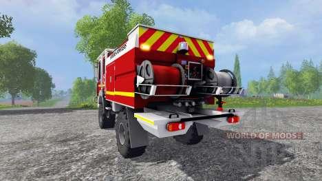 Renault Midlum Crew Cab 4x4 2009 [firetruck] для Farming Simulator 2015