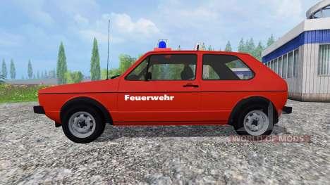 Volkswagen Golf I GTI [feuerwehr] v2.0 для Farming Simulator 2015