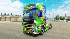 Скин Brasil 2014 на тягач Scania для Euro Truck Simulator 2