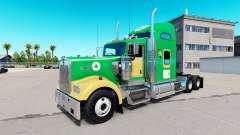 Скин Boston Celtics на тягач Kenworth W900 для American Truck Simulator
