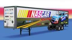 Скин NASCAR на цельнометаллический полуприцеп для American Truck Simulator