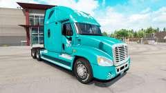 Скин TUM на тягач Freightliner Cascadia для American Truck Simulator