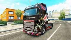 Скин England на тягач Volvo для Euro Truck Simulator 2