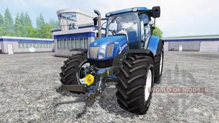 New Holland T6.160 [blue power] v1.1 для Farming Simulator 2015