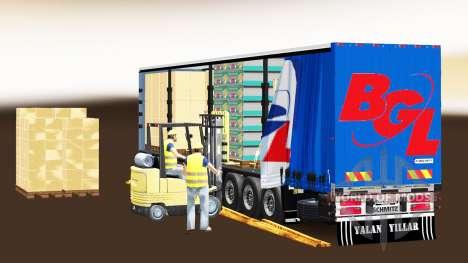 Шторный полуприцеп Schmitz Cargobull BGL для Euro Truck Simulator 2