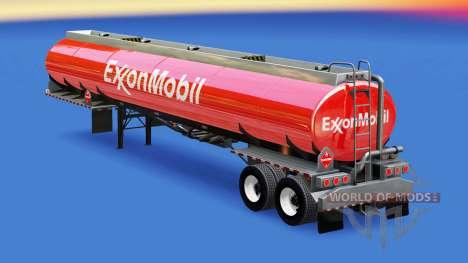 Скин ExxonMobil на топливную цистерну для American Truck Simulator