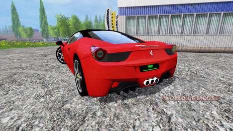 Ferrari 458 Italia для Farming Simulator 2015