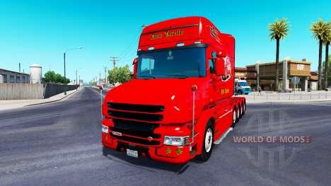 Скин Dom Toretto на тягач Scania T для American Truck Simulator
