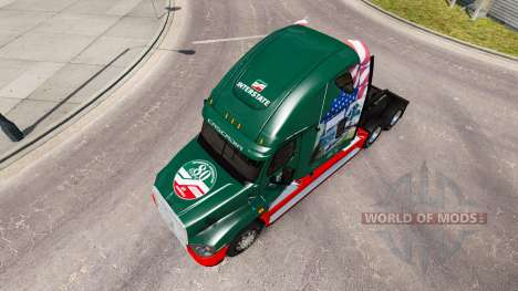 Скин INTERSTATE 80 Year на Freightliner Cascadia для American Truck Simulator