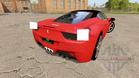 Ferrari 458 Italia v1.1 для Farming Simulator 2017