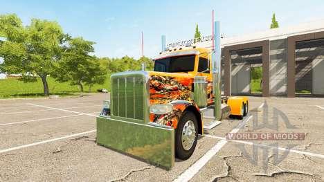 Peterbilt 388 Day Cab для Farming Simulator 2017