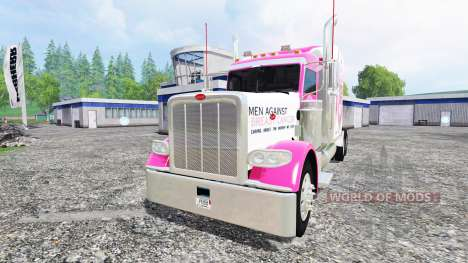 Peterbilt 388 [breast cancer] для Farming Simulator 2015