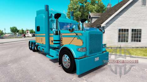 Скин Johnson Livestock LLC на Peterbilt 389 для American Truck Simulator