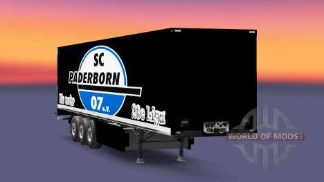 Скин SC Paderborn 07 на полуприцепы для Euro Truck Simulator 2