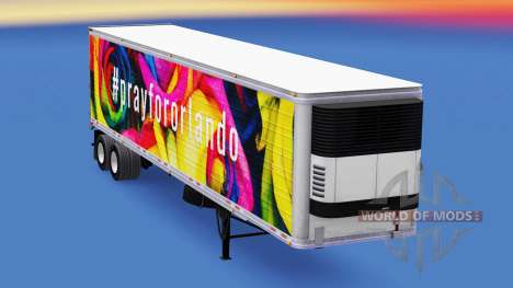 Скин PrayForOrlando на полуприцеп для American Truck Simulator