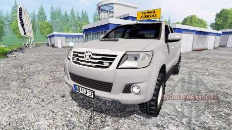 Toyota Hilux [convoi agricole] v2.0 для Farming Simulator 2015