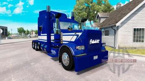 Скин Jack C. Moss Trucking Inc. на Peterbilt 389 для American Truck Simulator
