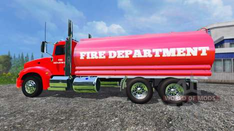 Peterbilt 387 Fire Department для Farming Simulator 2015