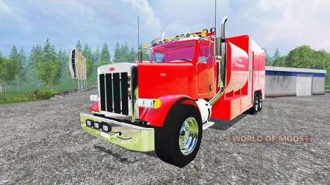 Peterbilt 378 Fire Department для Farming Simulator 2015