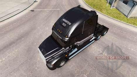 Скин MARTEN на тягач Freightliner Cascadia для American Truck Simulator
