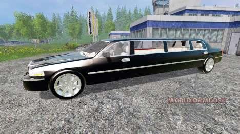 Lincoln Town Car Limousine для Farming Simulator 2015