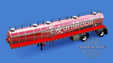 Скин ExxonMobil на химическую цистерну для American Truck Simulator