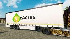 Шторный полуприцеп Krone EuroAcres для Euro Truck Simulator 2