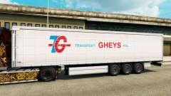 Скин Transport Gheys на полуприцепы для Euro Truck Simulator 2