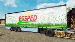 Шторный полуприцеп Krone Posped для Euro Truck Simulator 2