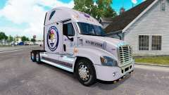 Скин Secured Land на тягач Freightliner Cascadia для American Truck Simulator