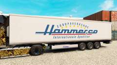 Скин Hammer на полуприцеп-рефрижератор для Euro Truck Simulator 2