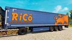 Скин Rico на полуприцепы для Euro Truck Simulator 2
