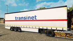 Шторный полуприцеп Krone TransiNet для Euro Truck Simulator 2
